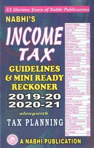 Nabhis Income Tax Guidelines And Mini Ready Reckoner 48th Revised Edition