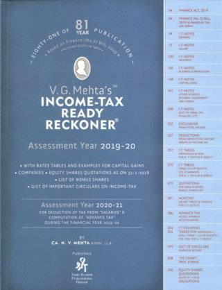 V G Mehtas Income Tax Ready Reckoner Assessment Year 2019-20