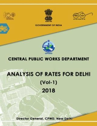 CPWD Analysis of Rates For Delhi 2019 with Correction Slips