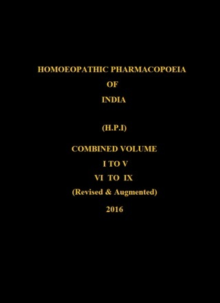 Homoeopathic Pharmacopoeia of India HPI All Parts I to IX Combined in 2 Volumes