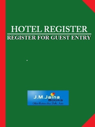 Hotel Register 300 Pages