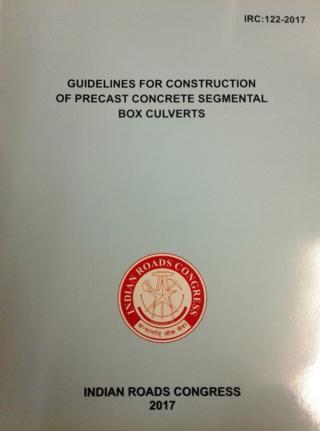 Buy online IRC122-2017 Guidelines for Construction of Precast Concrete  Segmental Box Culverts