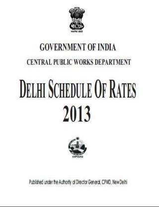 Buy online CPWD Delhi Schedule of Rates 2013 (Print On Demand)