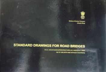 Buy online MORT&H Standard Drawings for Road Bridges R C C  Solid Slab  Superstructure 22 5º Skew R E  Span 4m